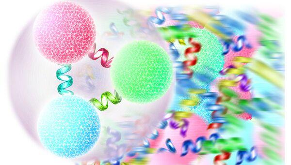 Протоны и нейтроны образован из трех кварков