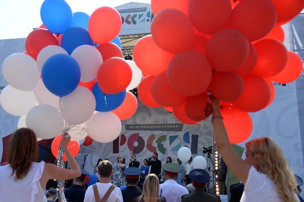 Участники фестиваля Многонациональная Россия в Москве