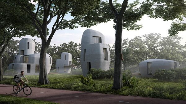Проект квартала 3D-домов в Нидерландах