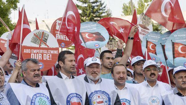Протесты у посольства США в Анкаре. 3 августа 2018