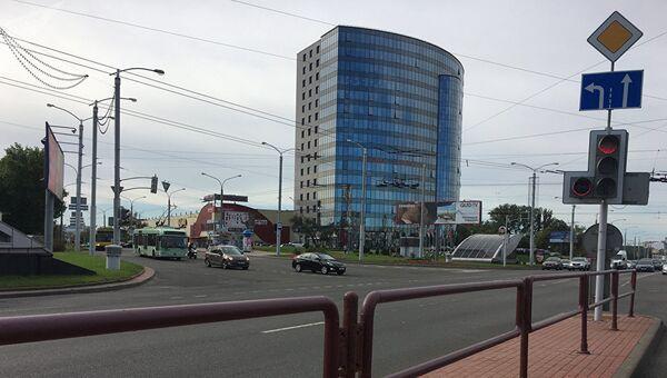Бизнес-центр Omega Tower на проспекте Дзержинского в Минске, где расположен офис TUT.BY. Архивное фото