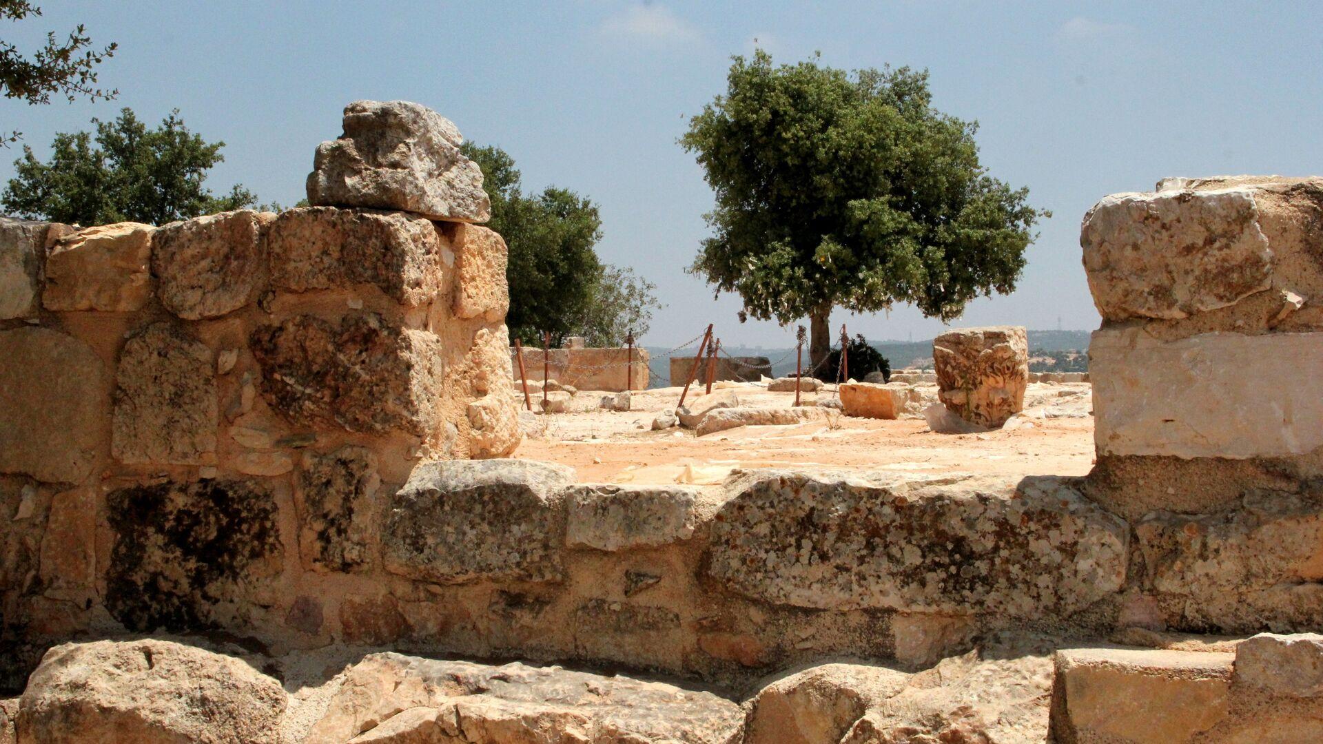 Развалины храма в Тель-Мар-Ильяс, где родился пророк Илия - РИА Новости, 1920, 02.08.2021