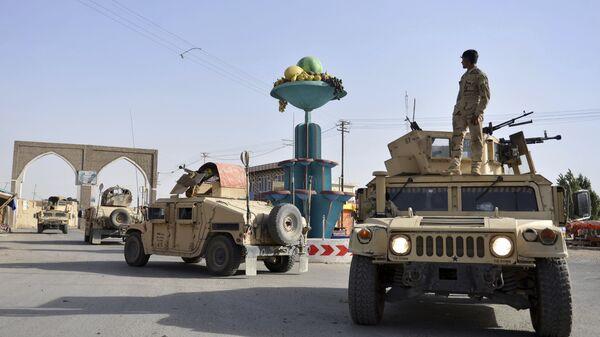 Афганские военные в городе Газни. 13 августа 2018