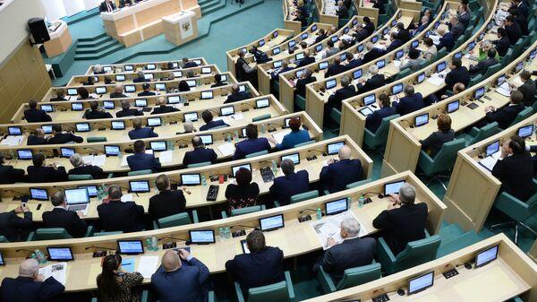 Заседание Совета Федерации России. Архивное фото