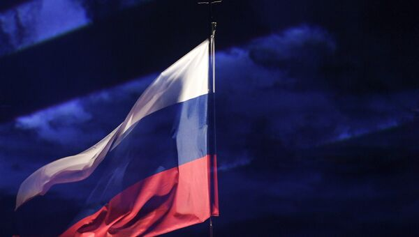 Празднование Дня российского флага в Санкт-Петербурге. Архивное фото