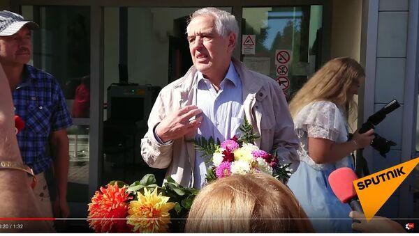 Суд в Риге освободил защитника нацменьшинств Гапоненко из-под стражи. Скриншот видео