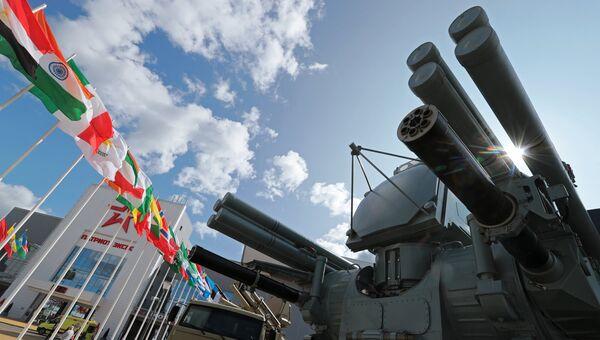 Зенитный ракетно-пушечный комплекс Панцирь-МЕ на форуме Армия-2018. Архивное фото