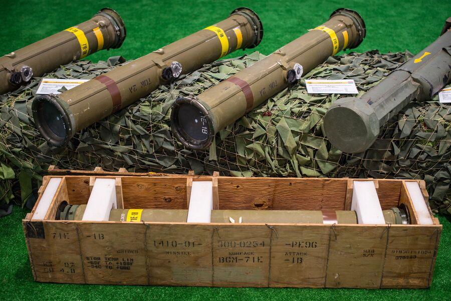 В числе трофеев армии САР - тяжелые американские ПТРК TOW-2A. Некоторые - в заводской в упаковке