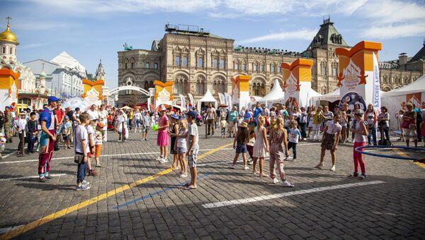 День спорта в Детском городке на Красной площади в рамках Фестиваля Спасская башня детям