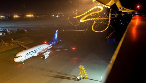 Опытный самолет МС-21-300 выполнил посадку в темное время суток на аэродроме Летно-исследовательского института им. М.М.Громова. 31 августа 2018
