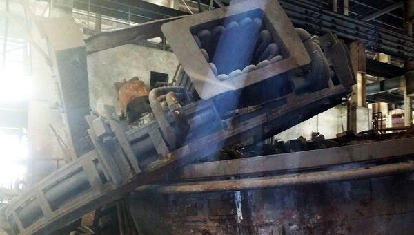 Обрушении стены литейной печи на заводе Бежицкая сталь в Брянске. 30 августа 2018