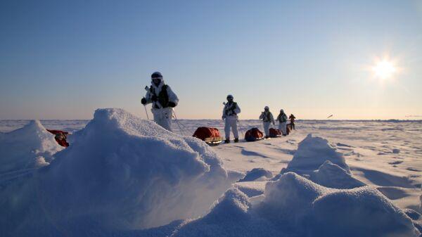 Участники комплексной экспедиции к Северному полюсу