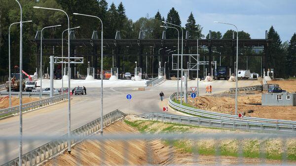 Строительство пункта оплаты на платной дороге М-11 Москва - Санкт-Петербург