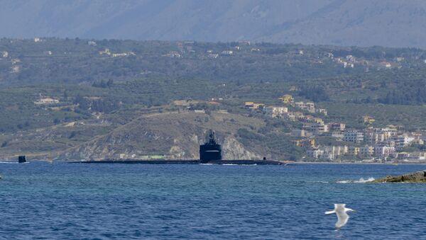 Американская атомная подводная лодка Ньюпорт-Ньюс. Архивное фото