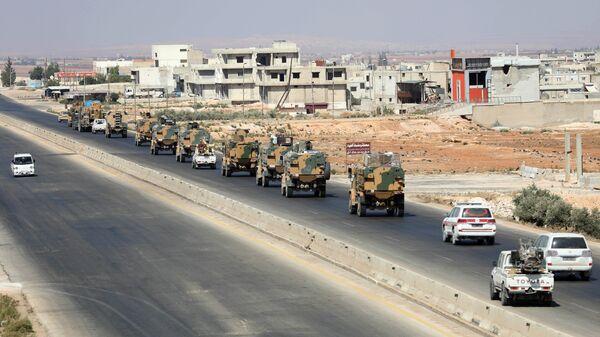 Турецкая военная техника в провинции Идлиб, Сирия. 29 августа 2018