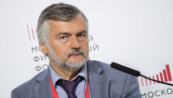 Заместитель Председателя - член Правления  Внешэкономбанка Андрей Клепач на Московском финансовом форуме. 7 сентября 2018