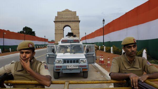 Сотрудники полиции в Индии