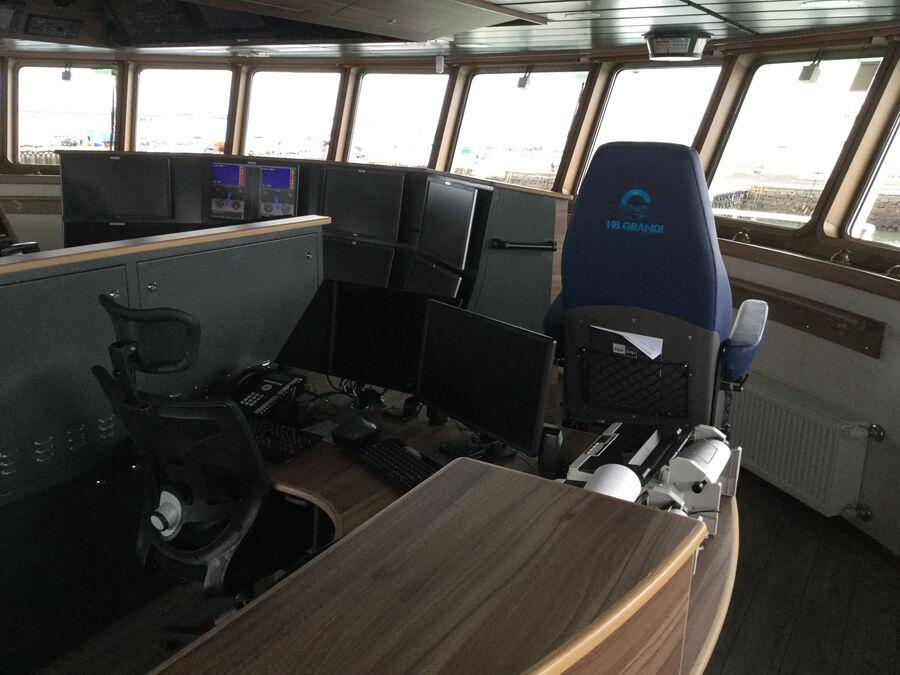 Капитанский мостик на рыболовецком судне