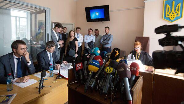 Министр инфраструктуры Украины Владимир Омелян на судебном заседании по рассмотрению ходатайства об избрании меры пресечения