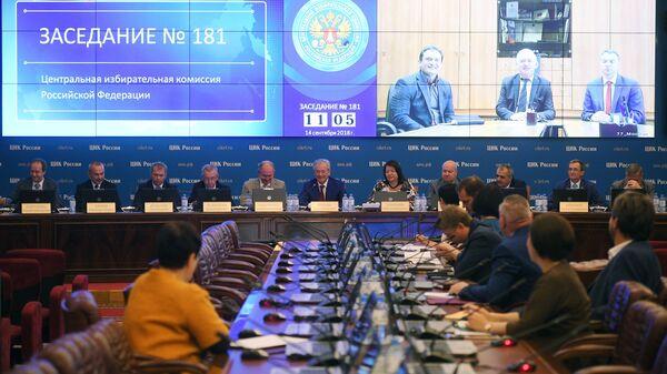 Участники заседания ЦИК РФ
