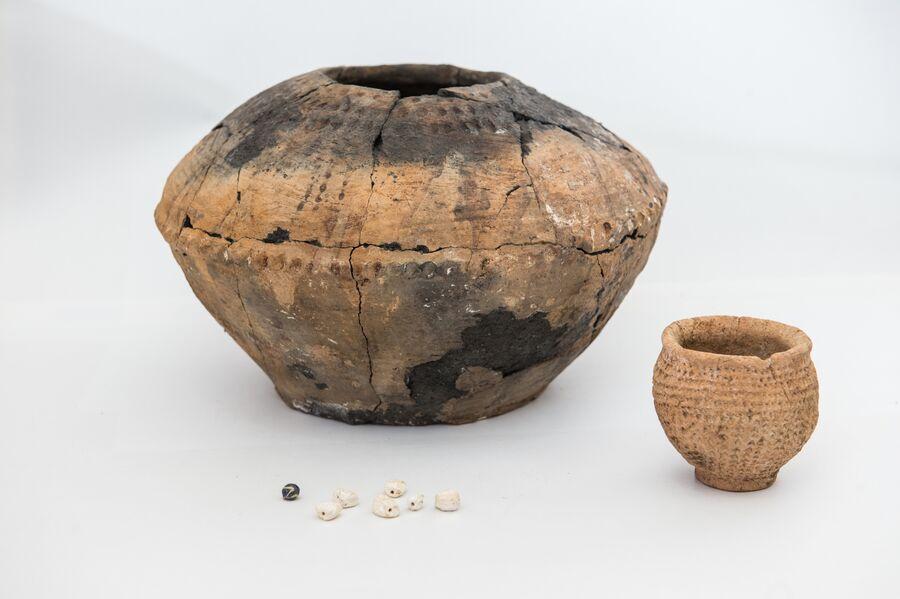 Артефакты, найденный на месте раскопок курганного могильника Киров-3. 2018 год
