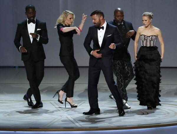 Рики Мартин во время 70-й церемонии вручения награды Primetime Emmy Awards в Лос-Анджелесе