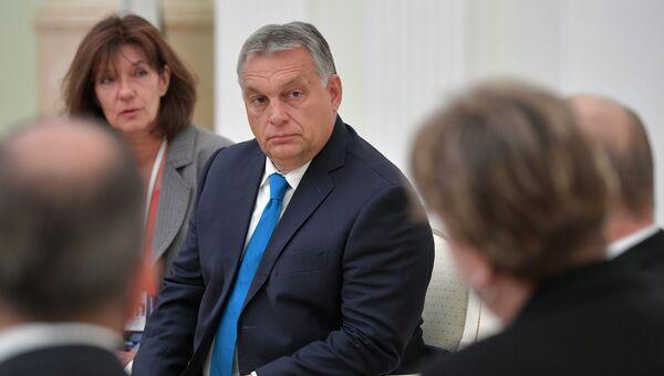 Премьер-министр Венгрии Виктор Орбан во время встречи с президентом РФ Владимиром Путиным