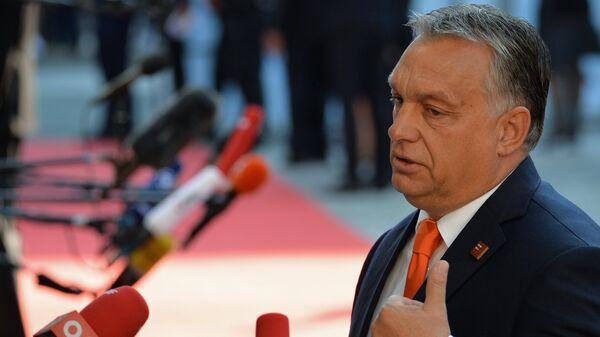 Премьер-министр Венгрии Виктор Орбан перед началом неформального саммита глав стран-членов ЕС в Зальцбурге