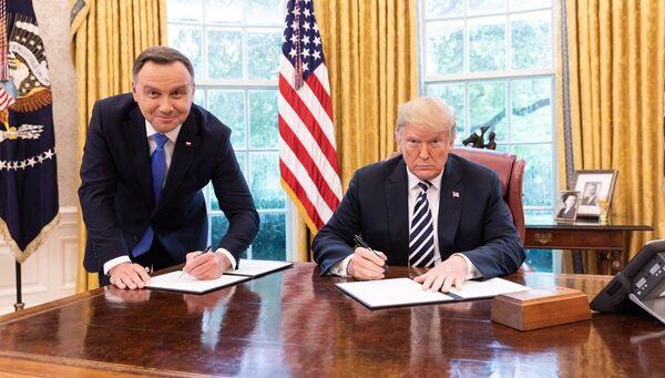 Встреча президентов США и Польши Дональда Трампа и Анджея Дуды. Архивное фото