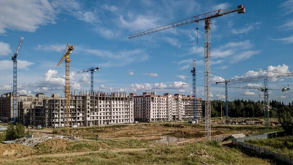 Строительство жилого комплекса Митино О2 в Красногорском районе Московской области. Архивное фото