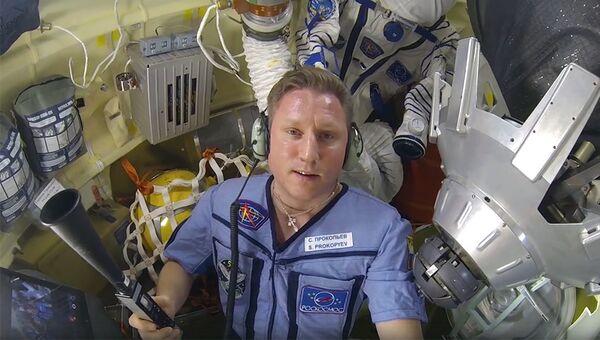 Космонавт Сергей Прокопьев на МКС. Архивное фото