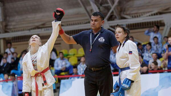 Около трехсот спортсменов из России и стран зарубежья принимают участие в Первенстве мира по рукопашному бою в Туле