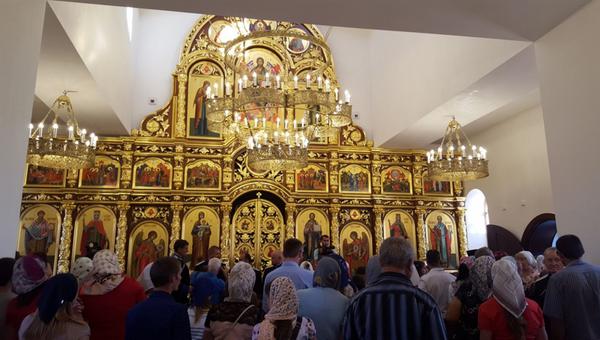 Православный храм в станице Шелковская в Чечне