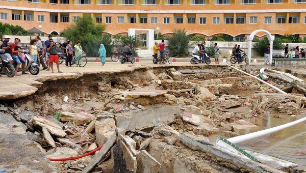 Последствия наводнения в Тунисе. 23 сентября 2018