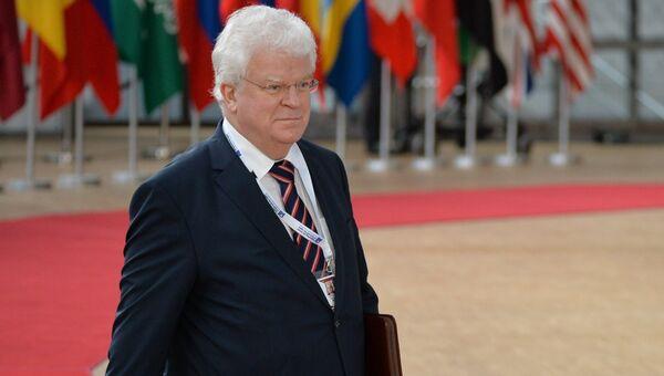 Постоянный представитель Российской Федерации при Европейском Союзе Владимир Чижов в Брюсселе. Архивное фото