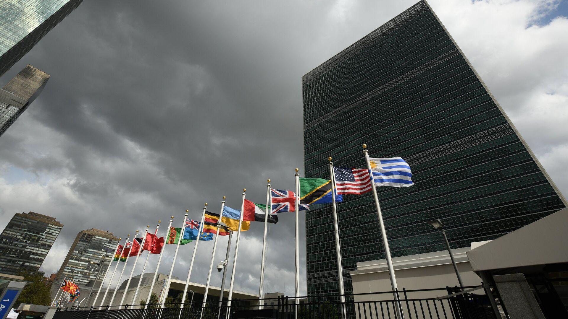 Штаб-квартира Организации Объединенных Наций в Нью-Йорке. 25 сентября 2018 - РИА Новости, 1920, 17.09.2020