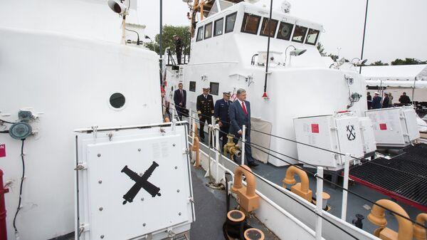 Церемония передачи Военно-морским силам Украины двух патрульных катеров береговой охраны класса Island