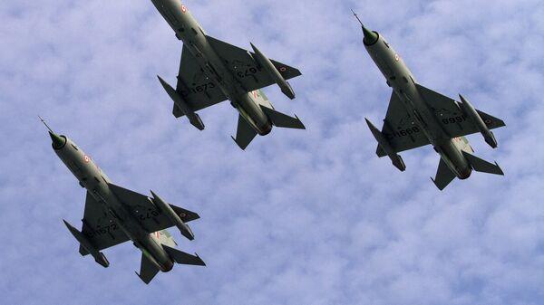 Истребители МиГ-21 ВВС Индии. Архивное фото