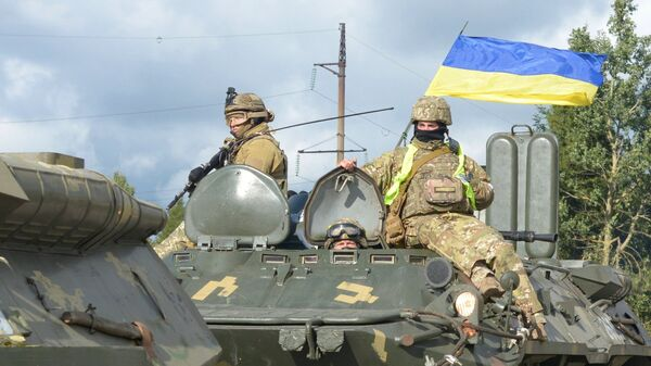 Военнослужащие вооруженных сил Украины во время учений Козацька воля – 2018