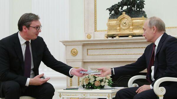 Александр Вучич и Владимир Путин