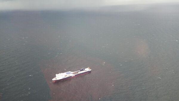 Грузопассажирский паром Regina Seaways в Балтийском море. 2 октября 2018