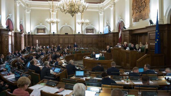 Заседание сейма Латвии. 27 сентября 2018 года