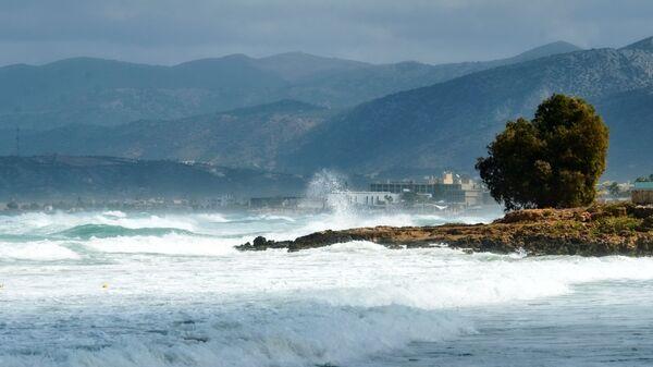 Шторм на побережье Средиземного моря. Архивное фото.