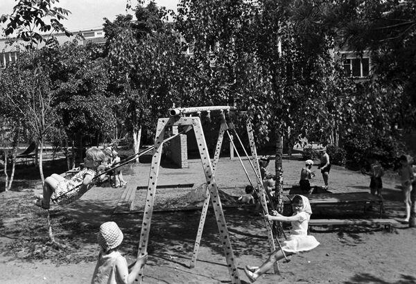 На территории детского сада Черемушкинского района Москвы