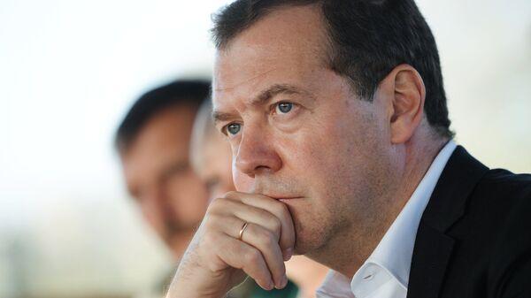 Председатель правительства РФ Дмитрий Медведев в Ставропольском крае. 9 октября 2018