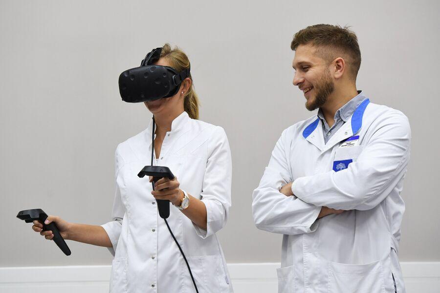 Процедура виртуальной реабилитации в Центре Медицинской реабилитации МГМУ имени И. М. Сеченова