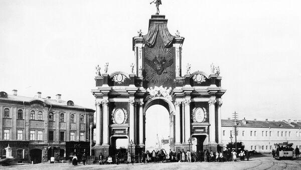 Красные ворота. Конец XIX века. Репродукция