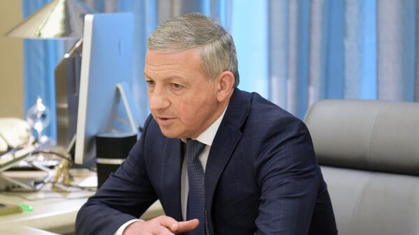 Временно исполняющий обязанности главы Республики Северная Осетия - Алания Вячеслав Битаров. 14 апреля 2016
