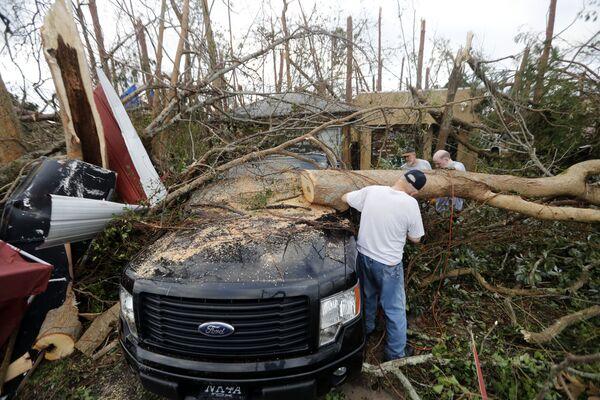 Последствия урагана Майкл в Панама-Сити, Флорида, США