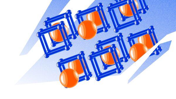 Так художник представил себе кристаллическую структуру соединений урана